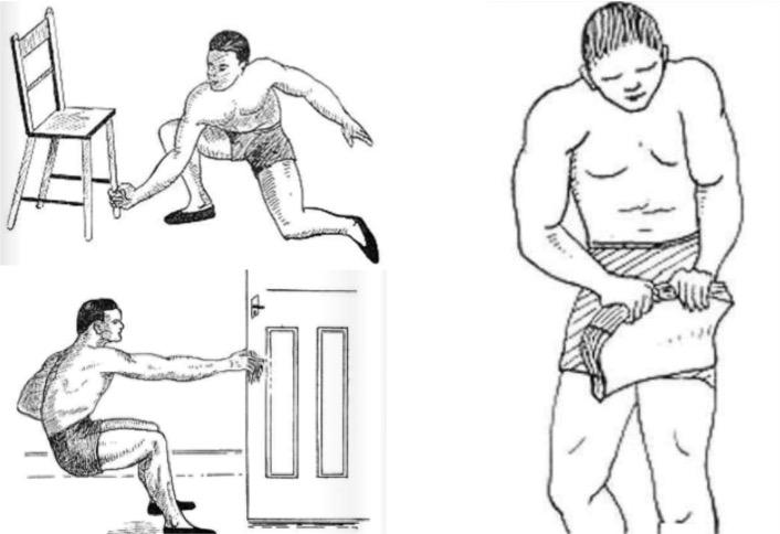 10 exercices sportifs faire chez soi avec les objets du quotidien. Black Bedroom Furniture Sets. Home Design Ideas